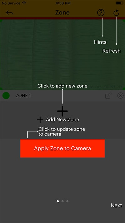 Kodak Cherish C520 Review mobile app motion zone - Baby Gear Essentials