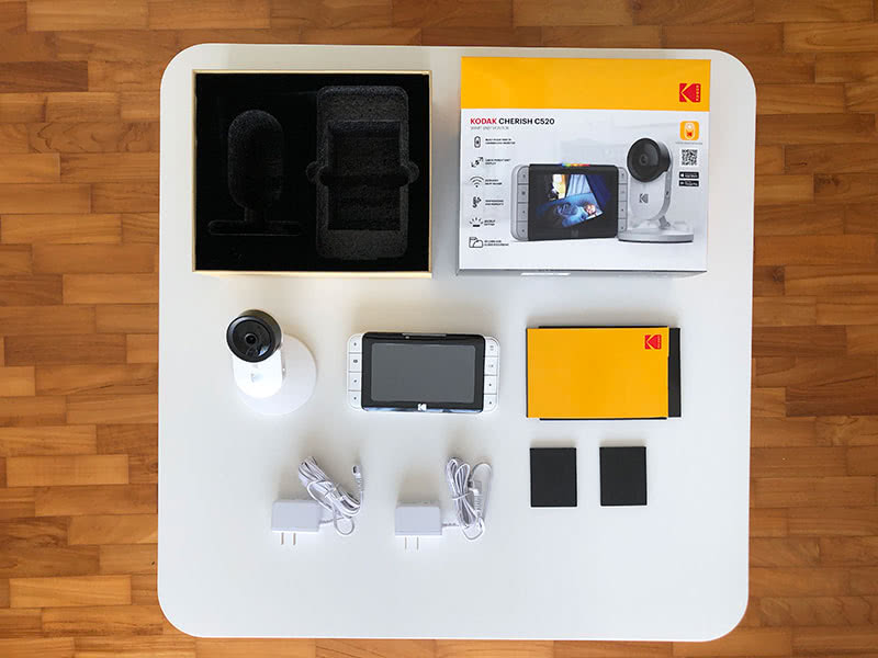 Kodak Cherish C520 review included box - Baby Gear Essentials