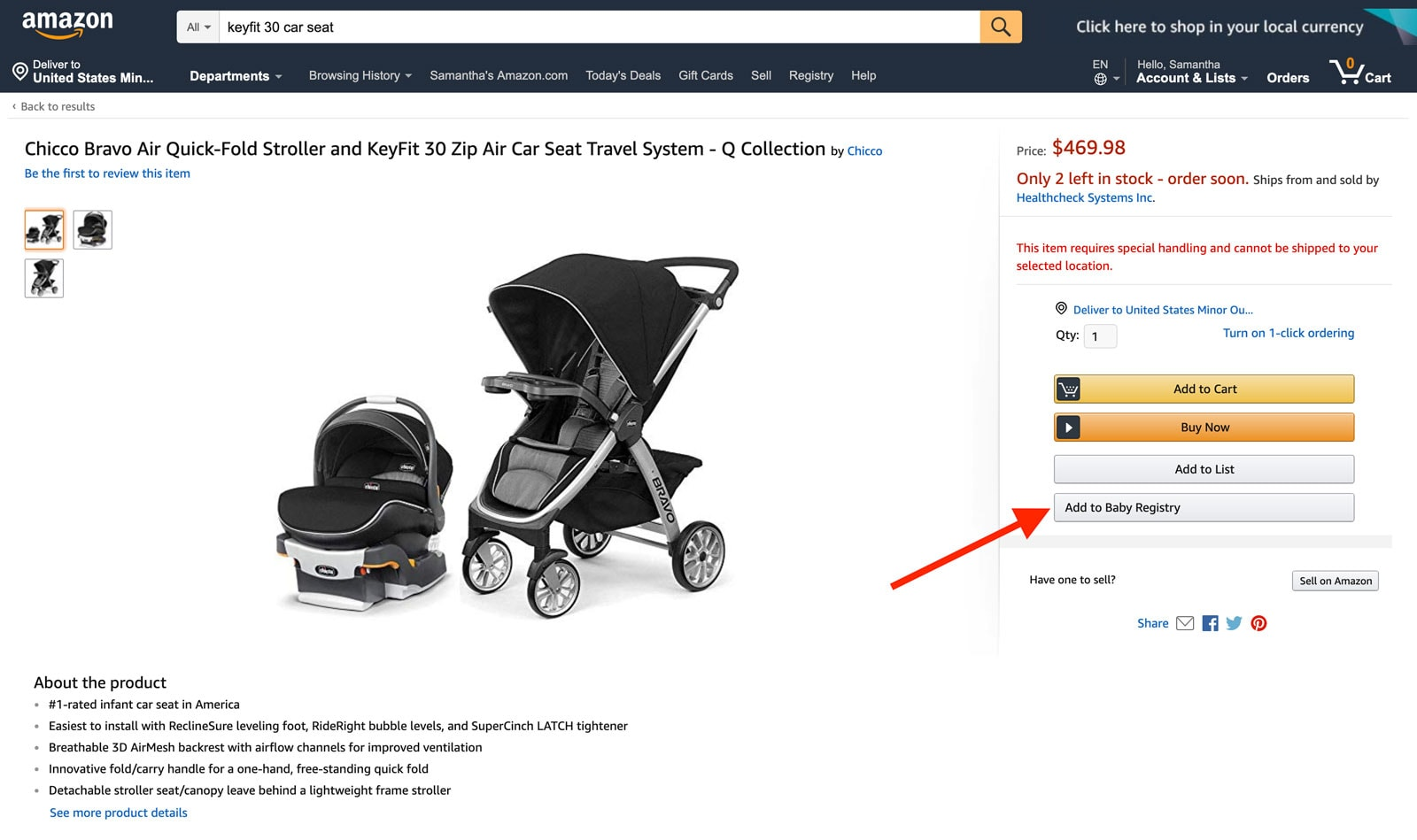 Amazon Baby Registry guide - add to list Step 3 - Baby Gear Essentials