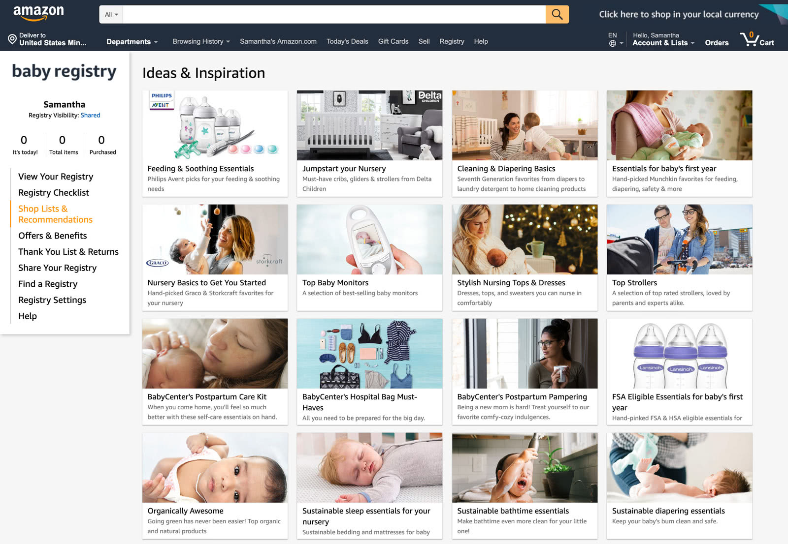 Amazon Baby Registry guide - checklist ideas and inspirations Step 3 - Baby Gear Essentials