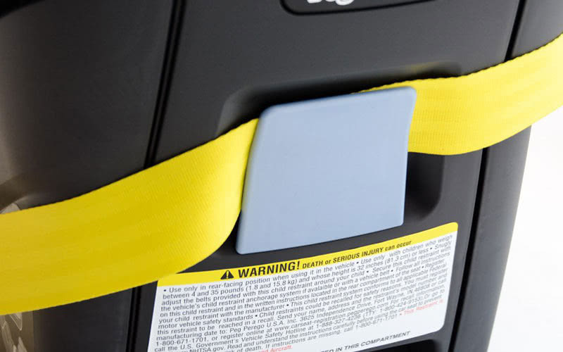 Peg Perego Primo Viaggio installation European seat belt path - Baby Gear Essentials