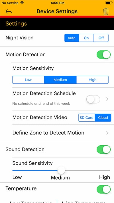 Kodak Cherish C520 mobile app settings - Baby Gear Essentials