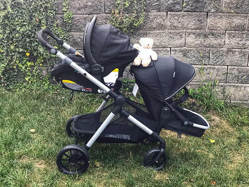 evenflo pivot xpand stroller review car seat bassinet two - Baby Gear Essentials