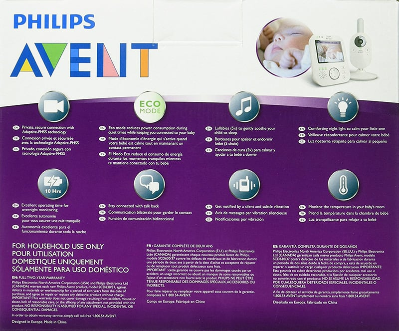 Baby Gear Essentials Philips Avent SCD630/37 best monitor box