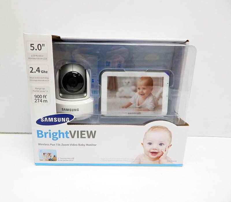 Baby Gear Essentials Samsung SEW-3043W best video monitor review box